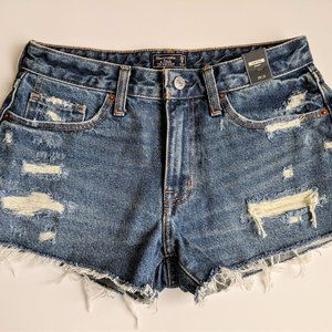 NEW Abercrombie & Fitch Low Rise Denim Shorts